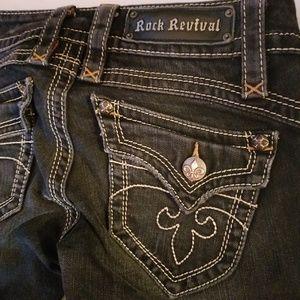 Rock Revival Gwen Boot Cut Jeans in Black
